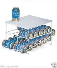 Organized Living 24 Can Beverage Dispenser Soda Coke Storage Rack Stand White