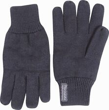 MENS THERMAL THINSULATE KNITTED FULL FINGER GLOVES WINTER WARM COLD WOOLLY MITTS