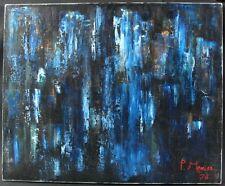 Huile sur toile contemporaine de P. Menier / 1976