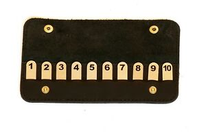 Position Finder Numbered Pegs In Black Leather Case Essential Shooting Gift 1-10