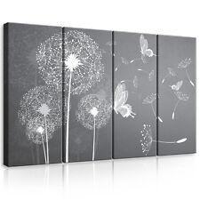 SET (4 teilig) Leinwandbild Wandbild Bild Blumen Pusteblumen Kunst  3FX10158S7