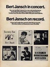 Bert Jansch LP concert advert Time Out cutting 1971