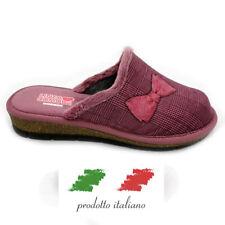 Pantofole da Donna Ciabatte Chiuse Per Casa Camera Zeppa Bassa Invernali Italy