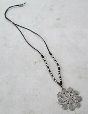 NiCe!! Hmong Hill Tribe Silver & Hemp Traditional Necklace Handmade