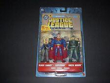 DC COMICS MATTEL JUSTICE LEAGUE 3 PACK BLACK CANARY,GREEN ARROW,SUPERMAN 2005