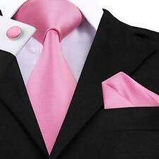 Classic Solid Plain 30 Colors Men's Tie 100% Silk Necktie Set Jacquard 2018 F&S