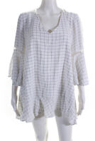 See by Chloe Womens Knit Flouncy Sleeve Dress White Size L 11063290