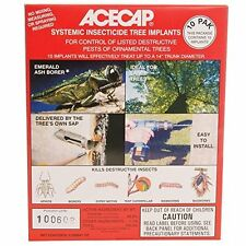Systemic Insecticide Tree Implants prevent & control Emerald Ash Borer - 10 Pack