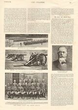 1899 ANTIQUE PRINT - BOER WAR- THE SIEGE TRAIN FOR SOUTH AFRICA, SIR HENRY TATE