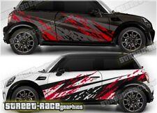 Mini Rally 008 grunge mud splatter graphics stickers decals vinyl