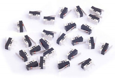 Cylewet 25Pcs AC 1A 125V 3Pin SPDT Limit Micro Switch Long Hinge Lever for Pack
