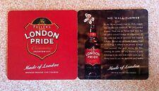 Coaster or mat of beer London Pride. No Wall flower.