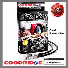 Jaguar E-Type S1 3.8/4.2 61-68 Goodridge SS Classic Brake Hoses SJA0301-3C-CLA