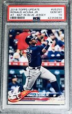 RONALD ACUNA JR. 2018 TOPPS UPDATE #US250 RC ROOKIE CARD PSA 10 GEM MINT BRAVES