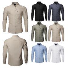 FashionOutfit Men's Basic Button Down Collar Chambray Long Sleeve Shirt