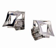 Design 925 Silber OHRHÄNGER / OHRSTECKER mit Swarovski Stein Black Diamond