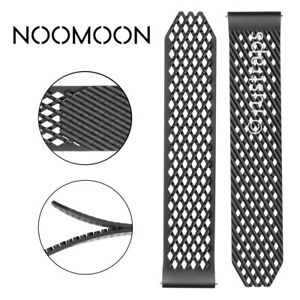 Noomoon LABB Loopless And Buckleless Rubber BLACK Watch Strap Band