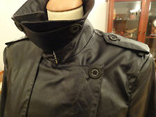 one off Alexander McQueen Double Breasted Buckle Side Trench Coat Mac UK42  IT52