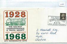 GB - SOUVENIR COVER - 1127- SPECIALS - 1968 - RAILWAY COVER - RC &TRAVEL SOCIETY