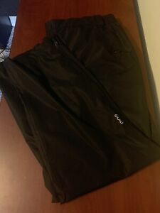 NEW Ping Ladies Sensordry Black Rain Waterproof Golf Weather Pants Size 14 Large