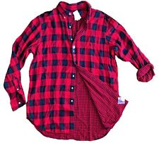 Polo Ralph Lauren Big & Tall Lumberjack Plaid Red & Black Flannel Lined Shirt