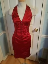 cache corset bonded hook front red    Valentine's  dress 2.  #971