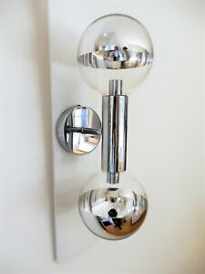 "4 x Vintage 1970s ""lightcraft"" Original chrome Sputnik Ceiling LIghts & sconce -"