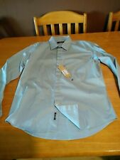 Replay mens long sleeved shirt size Large blue.