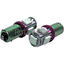 1 Rosa 5 X 5050 LED BA9s 12v Bombilla Led Interior