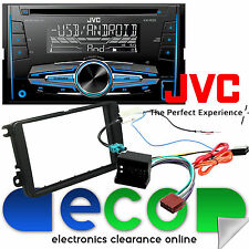 VW POLO 2005 in Kit Fascia & Jvc Doppio Din Cd MP3 USB AUX IN 4 x 50 W Auto Stereo