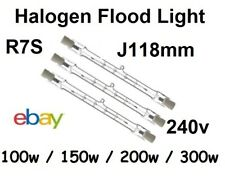 R7 Tungsten Halogen Security Floodlight Bulbs 100w/150w/200w/300w 240v J118mm