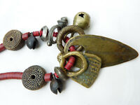 Ashanti Queen Necklace, antique African bronze pendants , Beadart-Austria