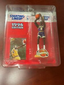 1996 Kenner Starting Lineup SLU KOBE BRYANT Rookie Ships In A Dome Holder