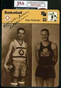 Nat Holman Jsa Autograph  1979 Sportscasters Hand Signed