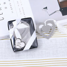 1x Heart Shape Paper Clips Bookmark Metal Paperclips Office Stationery Supplies
