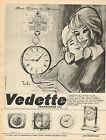 Publicité 1966 Pendule Vedette Transistor Horlogerie
