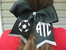 Personalized Design Your Own Black Cheer Softball Soccer Basketball Hair Bow