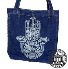 S14. HAMSA HAND Jeans Denim Shopping Bag Marionelli Tasche  Stofftasche