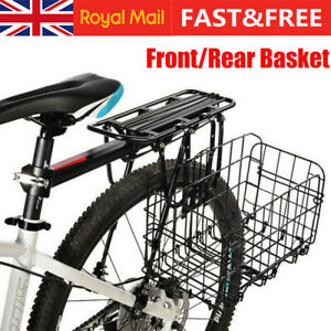 Mountain Bike Bicycle Metal Mesh Basket & Quick Release Front Bag Rear Hanging M