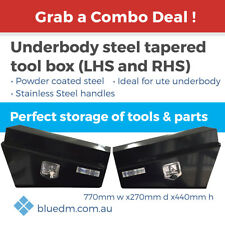 Underbody Steel Tapered Tool Box Black COMBO *FREE DELIVERY*