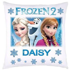 PERSONALISED FROZEN 2  DISNEY CUSHION COVER IDEAL BIRTHDAY CHRISTMAS PRESENT