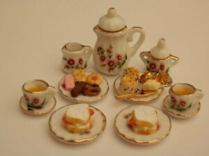 Dolls house food : Afternoon tea for two  -By Fran