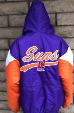 Vtg Logo 7 Youth Kids Phoenix Suns Pullover Zip Jacket Size Medium 90s Barkley