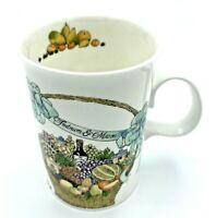 "Fortnum & Mason Mug Fine Bone China London Tea Coffee Cup White w/ Baskets 4"""