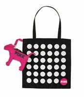 Victoria's Secret Pink Dog Fold & Pack Polka Dot Tote Bag, 2 Pc Duo Super Cute