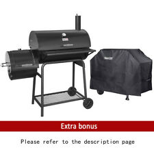"""Royal Gourmet 30"""" BBQ Charcoal Grill Offset Smoker with Cover"""