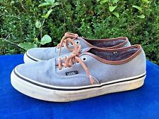 VANS OFF THE WALL Silver Leather Highlight Skateboard Loafers Mens Shoes Sz 7