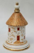 Perfume Container Thatched Round House  by Pallini Attiki Venus Hand Made Greece