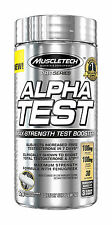 MuscleTech Alpha Test 120 Cap Testosterone Booster Alphatest HD  FREE POST