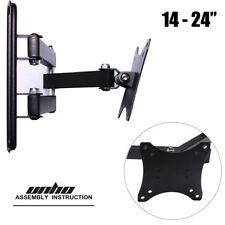 """Wall Mount Monitor Stand LED LCD 14""""-24"""" TV Bracket Articulating for Acer BenQ"""